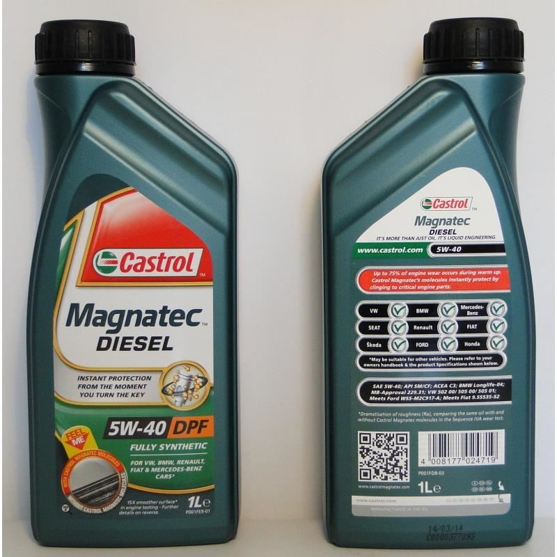 castrol magnatec diesel dpf 5w40 5l white impex. Black Bedroom Furniture Sets. Home Design Ideas